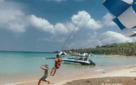 Single parasailing
