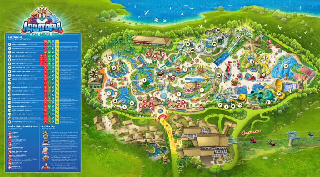 Fun map at Aquatopia