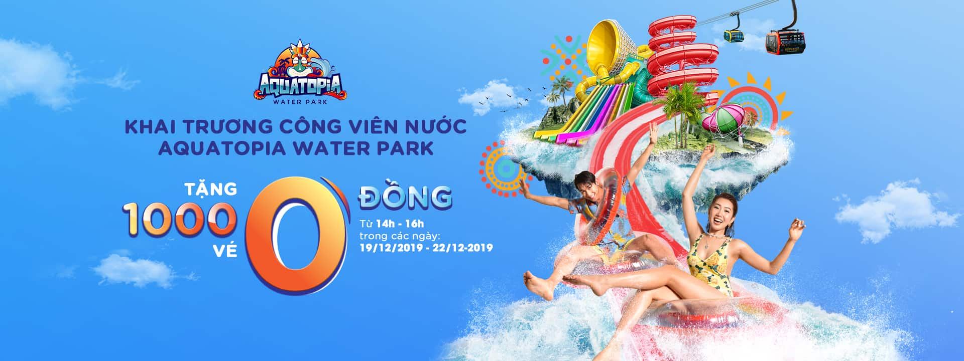 QUICKLY HUNT 1000 FREE TICKETS ON THE OCCASION OF OPENING AQUATOPIA WATER PARK