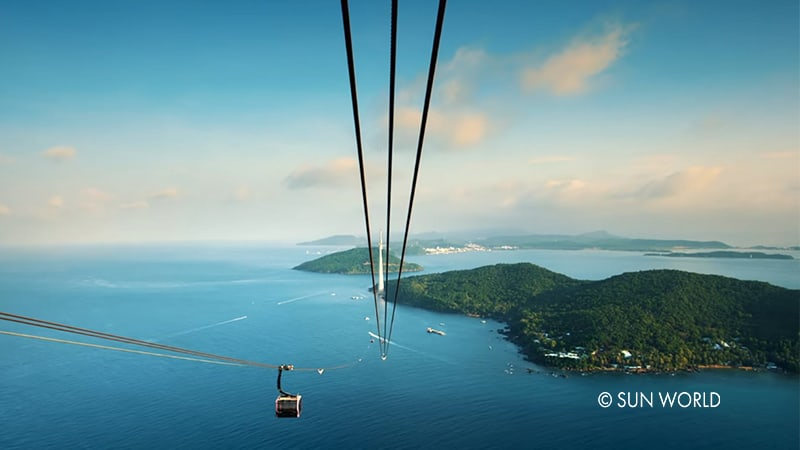 The world's longest cable car route is designed with the world most advanced and modern 3-wire technology